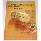 1966 Remington Shotgun Shells Color Print Ad - Power Piston