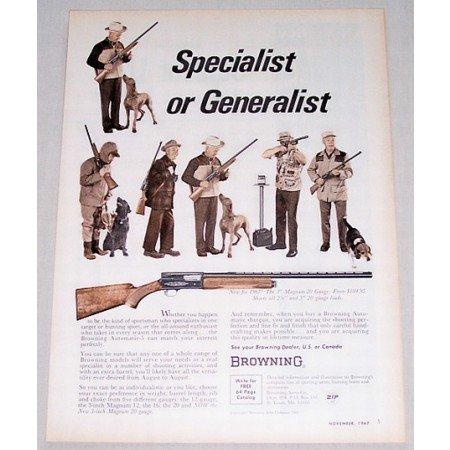 1967 Browning 3 Magnum 20 Gauge Shotgun Color Print Ad