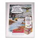 1961 Federal Sporting Ammunition Duck Art Color Print Ad