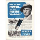 1952 Peters High Velocity Shotgun & Rifle Shells Vintage Print Ad