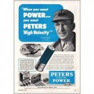 1950 Peters High Velocity Shells Vintage Print Ad - Jerry Wilson