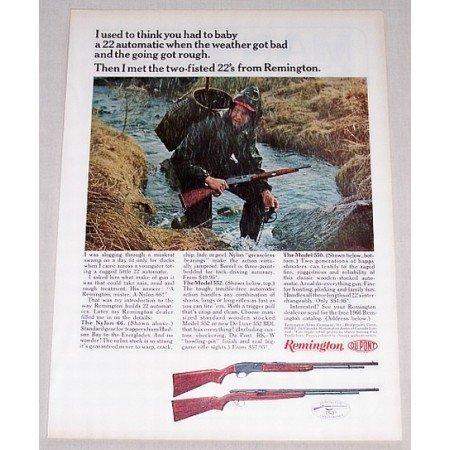 1966 Remington Model 550 552 Auto Rifles Color Print Ad