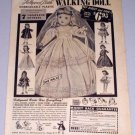 1954 Hollywood Bride Plastic Walking Doll Vintage Toy Print Ad