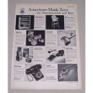 1949 American Made Toys 3 Page Vintage Print Ad - Doepke Hubley
