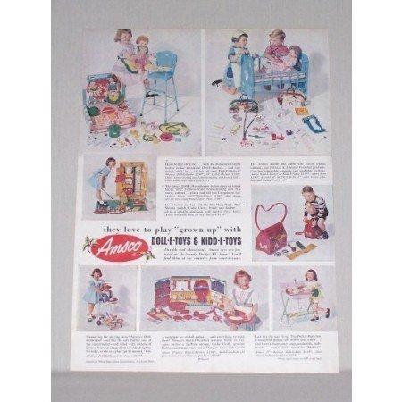 1953 Amsco Kidd-E-Toys Vintage Toys Color Print Ad
