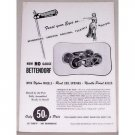 1952 Roadhouse HO Gauge Bettendorf Train Wheels Vintage Print Ad