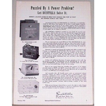 1951 Scintilla Train Power Supplies Vintage Print Ad - Power Problem?