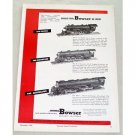 1950 Bowser HO Scale Locomotives Train Vintage Print Ad