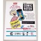 1950 Fun-Craft Comic Rotor Educational Toy Color Print Ad