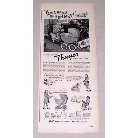 1947 Thayer Baby Doll Carriage Vintage Toy Vintage Print Ad