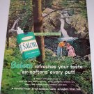 1962 Salem Cigarettes Outdoors Waterfall Color Tobacco Print Ad
