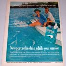 1962 Newport Cigarettes Water Boating Color Tobacco Vintage Print Ad