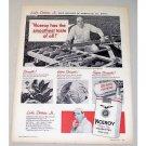 1957 Viceroy Cigarettes Vintage Print Ad Luke Detraz Jr Rice Grower