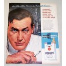 1958 Viceroy Cigarettes Color Print Ad - Man Who Thinks...