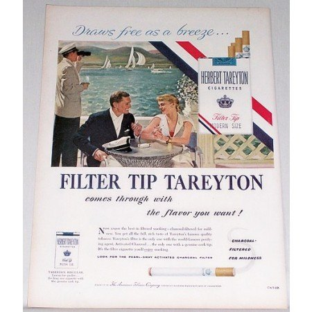 1955 Herbert Tareyton Cigarettes Color Print Ad