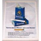 1963 Montclair Menthol Cigarettes Color Print Ad