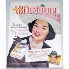 1948 Chesterfield Cigarette Color Print Ad Celebrity Rosalind Russell