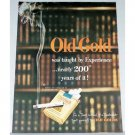 1948 Old Gold Cigarettes Color Print Ad - Taught By Experience