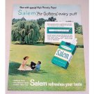 1962 Menthol Fresh Salem Cigarettes Color Print Ad