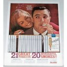 1961 Chesterfield Cigarettes Color Tobacco Print Ad