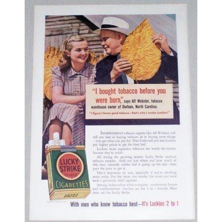 1941 Lucky Strike Cigarettes Color Tobacco Print Ad