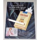 1954 Old Gold King Size Cigarettes Color Tobacco Print Ad