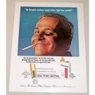 1962 Tareyton Cigarettes Color Tobacco Print Ad - Rather Fight Than Switch