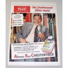1951 Chesterfield Cigarette Color Tobacco Print Ad Celebrity Paul Douglas