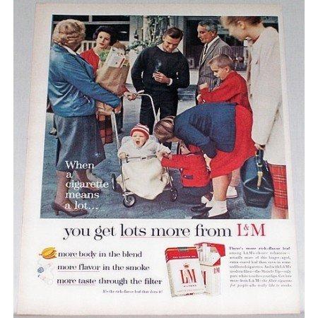 1962 L&M Cigarettes Color Tobacco Print Ad - Get Lots More