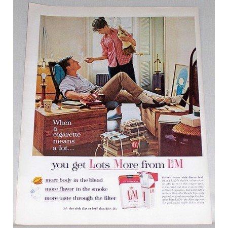 L&M Cigarettes Color Tobacco Print Ad - A Cigarette Means Alot