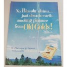 1948 Old Gold Cigarettes Vintage Tobacco Print Ad - No Blue Sky Claims