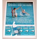 1961 Newport Cigarettes Water Skiing Color Tobacco Print Ad