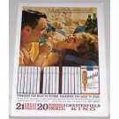 1962 Chesterfield Cigarettes Color Tobacco Print Ad - Too Mild