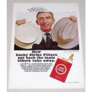 1967 Lucky Strike Filter Cigarettes Vintage Print Ad - Tobacco Auctioneer Speed Riggs