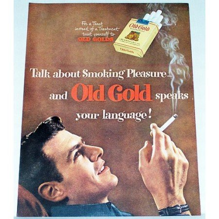 1948 Old Gold Cigarettes Vintage Tobacco Print Ad - Speaks Your Language