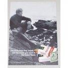 1971 Old Gold Filter Cigarettes Vintage Tobacco Print Ad - Get Away
