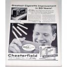 1955 Chesterfield Cigarettes Accu-Ray Checker Vintage Tobacco Print Ad