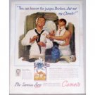 1945 Camel Cigarettes Color Wartime WWII Navy Art Color Tobacco Print Ad