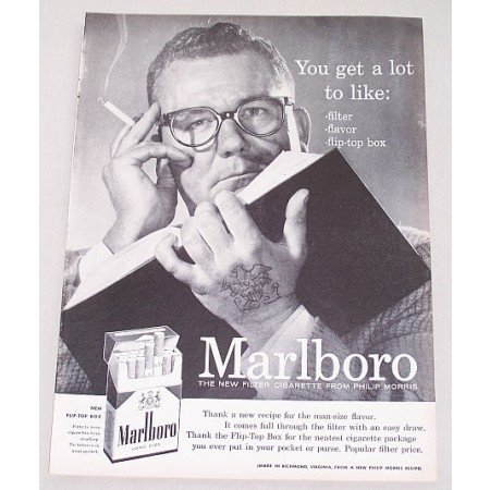 1956 Marlboro Cigarettes Vintage Tobacco Print Ad - You Get A Lot To Like