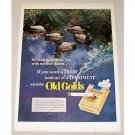 1951 Old Gold Cigarettes Ducks Water Fowl Color Tobacco Print Ad