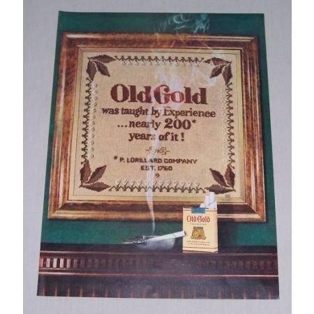 1949 Old Gold Cigarettes Color Tobacco Print Ad