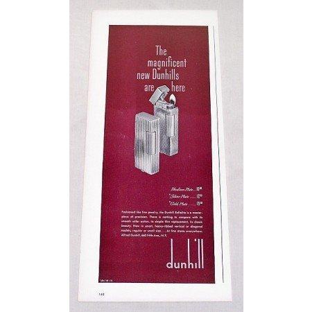 1947 Dunhill Rollalite Cigarette Lighter Color Print Ad