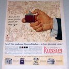1953 Ronson Windsor Cigarette Cigar Lighter Color Print Ad
