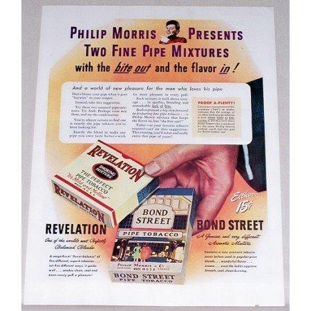 1944 Revelation Bond Street Pipe Tobacco Color Print Ad