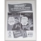 1942 Prince Albert Pipe Tobacco Vintage Print Ad - Easier On Tounge