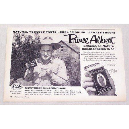 1957 Prince Albert Pipe Tobacco Vintage Print Ad - Arnold Kirby
