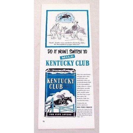 1953 Kentucky Club Pipe Tobacco Golf Art Vintage Print Ad