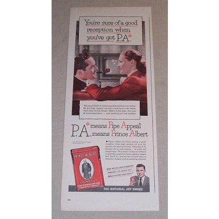 1948 Prince Albert Pipe Tobacco Color Print Ad - Good Reception