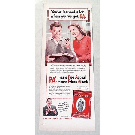 1948 Prince Albert Pipe Tobacco Vintage Print Ad - Learned A Lot