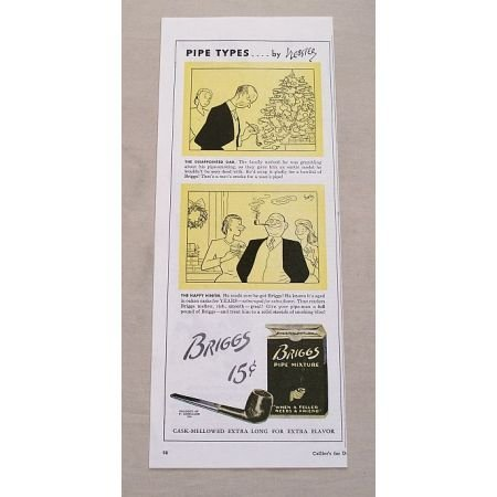 1944 Briggs Pipe Mixture Color Tobacco Vintage Print Ad - Pipe Types